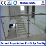 Bride en verre de garnitures de balustrade d'acier inoxydable pour la pêche à la traîne d'escalier