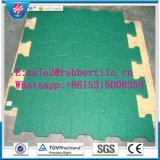 Stuoia di gomma di collegamento della pavimentazione di ginnastica, mattonelle esterne della gomma del campo da giuoco