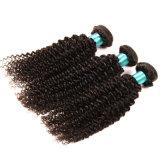 束のレースの閉鎖との3bundlesを編む閉鎖の人間の毛髪を搭載するブラジルのバージンの毛を搭載するねじれた巻き毛のレースの正面閉鎖