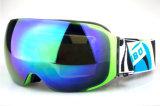 Snowboard esférico permutável Eyewear do esqui dos óculos de proteção de segurança da lente do PC