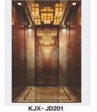 Автомобиль лифта гостиницы Kjx-Jd201upscale Ti-Золотистый
