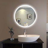 O espelho gravado diodo emissor de luz sanitário de Froested do espelho do espelho da bacia do espelho do banheiro do espelho dos mercadorias compo o espelho