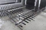2100mm x 2400mm das schwarze Puder beschichtete Röhrenstahlgarnison-Zaun-Panels