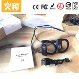 Écouteur d'appareil auditif d'oreille de câble par sport de haute énergie
