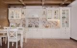 PVCフィルムのキャビネットドア(zc-001)が付いているメラミン食器棚