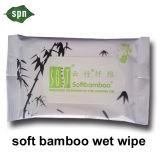 100% biodegradierbares antibakterielles erwachsenes nasses Bambusgewebe