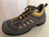 En cuero de ante densidad Suela de acero del dedo del pie zapatos de seguridad Cap