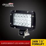 7.5 de '' luzes de trabalho quadradas quentes do diodo emissor de luz 24W 12volt para o Forklift