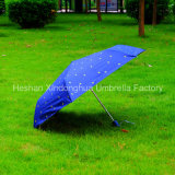 질 알루미늄 자동적인 UV 겹 우산 3개 (FU-3621AFA)
