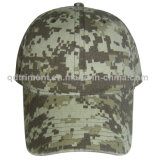 Popular Camuflagem Digital Algodão Canvas Leisure Baseball Cap (TMB03947)