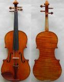 Violino 4/4 de Master+! Modelo 1716 do violino das messias de Strad! som surpreendente da parte traseira da flama 1-P