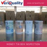 Geld-Zinn-Kasten-Qualitätskontrolle-Inspektion-Service in Tongxiang, Zhejiang