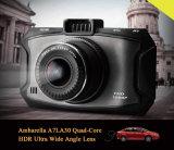 Vision nocturne de Dashcam de véhicule d'Ambarella A7 d'appareil-photo de véhicule de HD 1080P DVR excellente