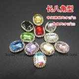 De vlakke Rug naait op de Bergkristallen van het Kristal van het Glas met de Montages van de Klauw (sW-Ovaal 10*14)