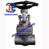 수동 핸들은 강철 플랜지 고압 DIN/API 게이트 밸브를 위조했다