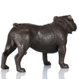 Dierlijke Pug die van de Hond van het Beeldhouwwerk van het Brons Standbeeld tpal-093 snijden van het Messing Deco