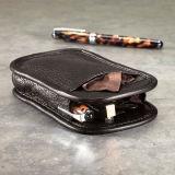 Sacos de couro dos Eyeglasses e tela Pouch-X03