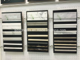 Poliercarrara-weißes Mosaik-gemischte graue Marmorwasserstrahlfußboden-Wand-Fliese