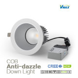 8W antideslumbrante COB Downlight con Philips conductor / COB Proyecto Downlight