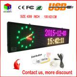 LED表示パネルの無線電信およびUSBのプログラム可能な圧延情報P6屋内40X9インチフルカラーRGB LEDの印