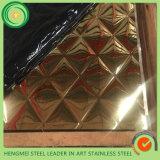Gravura em àgua forte inoxidável do laser do Manufactory da chapa de aço do fornecedor da parte superior 10 para o painel de parede