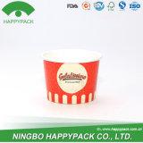 Tazza di carta del gelato con il marchio personalizzato (con il coperchio)