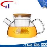 Hecho a mano resistente al calor tetera de vidrio borosilicato (CHT8135)