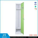 ルオヤンMingxiuの金属の携帯用キャビネットの白い単一のドアは貯蔵用ロッカーに着せる