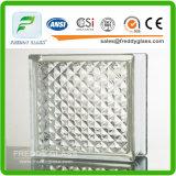 装飾(GB)のための青か緑または明確なさざ波のパタングラスのブロックまたは明確な水立方体のガラスレンガか煉瓦ガラス