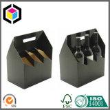 Cartón corrugado 6 Pack Vino Carrier caja de papel