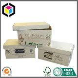 Rectángulo de empaquetado de la impresión del almacenaje de encargo resistente del papel acanalado