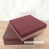 Chocolate colorido de lujo de madera como el rectángulo de regalo de papel del embalaje