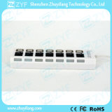Unabhängige Schalter und LED7 Port-USB-Nabe 2.0 (ZYF4228)