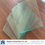 vidrio de flotador del claro de la hoja de 1-19m m para el edificio/la ventana