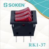 Переключатель CQC 250V 16A T100 вентилятора перекидного переключателя 3 шатий