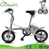 bicicleta eléctrica de la ciudad del acero de carbón de 250W mini Ebike plegable 16 ''
