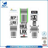 Etiqueta autoadhesiva auta-adhesivo del bagaje del equipaje del recorrido