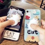 iPhone 6/7/8를 위한 질퍽한 3D 연약한 실리콘 고양이 전화 상자 덮개