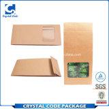 Bolsa de papel dura del té del sellado caliente de la cubierta de la insignia de encargo