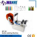 Máquina de etiquetas semiautomática da garrafa de água Mt-50 com impressora da tâmara