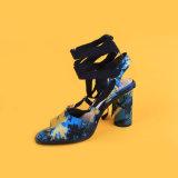 Sandali tallonati Ankel blu del legame del piedino delle donne per le donne