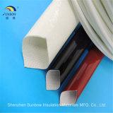 Binnen Silicone Met een laag bedekte Glasvezel Kabel Gevlechte Sleeving voor de Uitrusting van de Draad