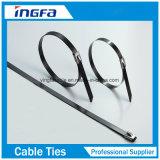 Fascette ferma-cavo rivestite dell'acciaio inossidabile del PVC di fabbricazione del cinese