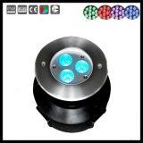 316 304 dispositivos ligeros subacuáticos inoxidables del cambio LED del color del acero