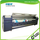 Resolución alta 3.2m retroiluminado Banner máquina de impresión, la impresora solvente