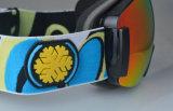 Lunettes sportives antichoc de masque de ski de lentille de PC de double d'ordonnance de sports