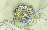 Bunter allgemeiner Plan der Stadt-Planung
