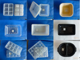 Populäre Großhandelspersimone-Frucht-verpackende weiße schwarze Plastiktellersegment-Hersteller