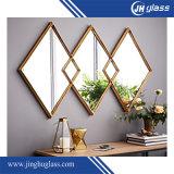 зеркало серебра рамки алюминия 4mm деревянное для украшения стены зеркала ванной комнаты