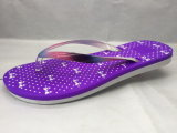 Zachte PVC/Pcu Flip Flops met Colorful Jelly Strap en Purple Sole (24ML1710)